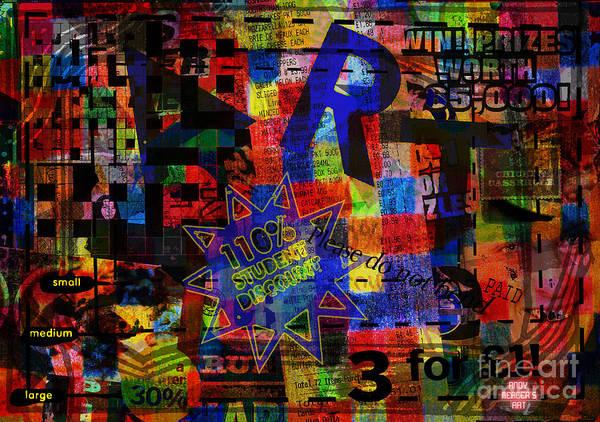 Art Art Print featuring the digital art Art 5 by Andy Mercer