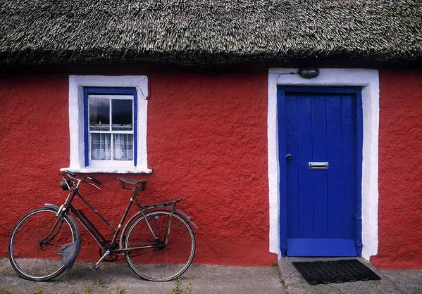 County Limerick Art Print featuring the photograph Askeaton, Co Limerick, Ireland, Bicycle by The Irish Image Collection
