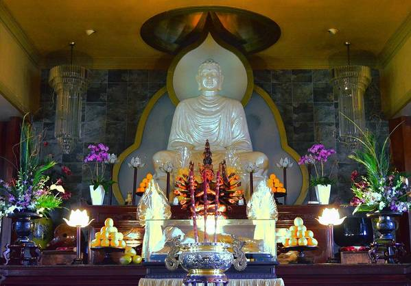 Buddha Art Print featuring the photograph Buddha Statue by David Morefield