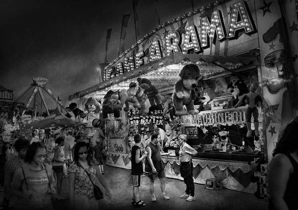 Hdr Art Print featuring the photograph Carnival - Game-a-rama by Mike Savad