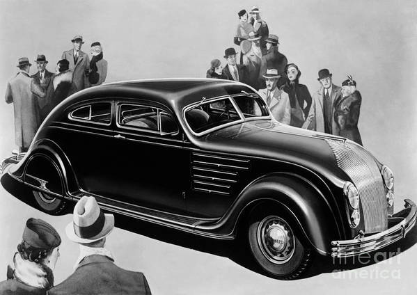 Chrysler Airflow Art Print featuring the photograph Chrysler Airflow by Photo Researchers