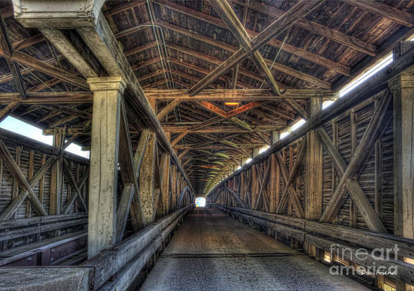 Covered Bridge Art Print featuring the photograph Covered Bridge Philippi Wv by Dan Friend