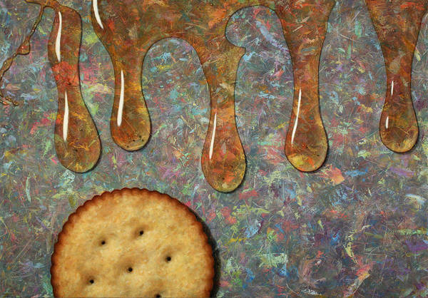 Cracker Print featuring the painting Cracker Honey by James W Johnson