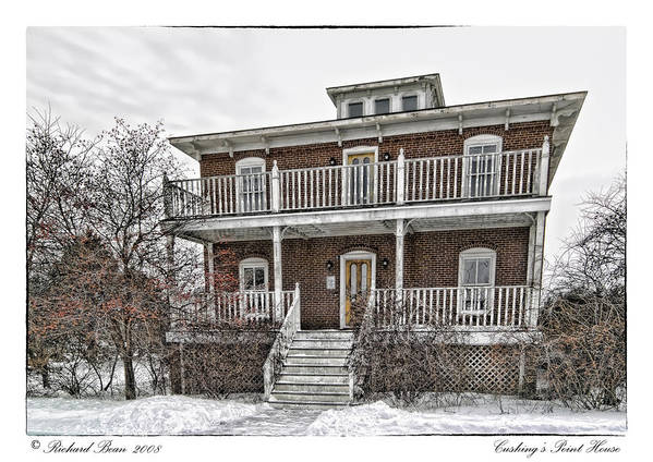 Architecture Art Print featuring the photograph Cushings Point House by Richard Bean