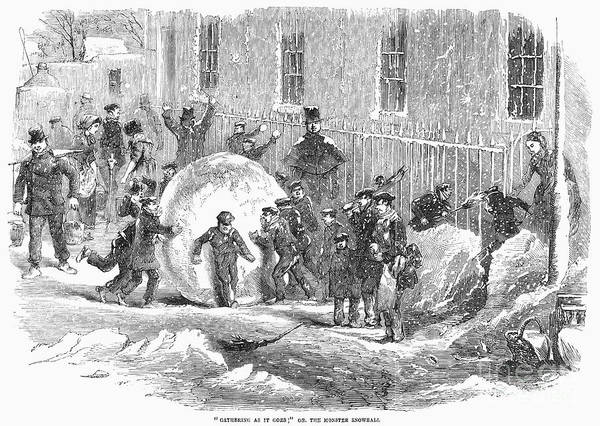 1855 Art Print featuring the photograph England: Winter, 1855 by Granger