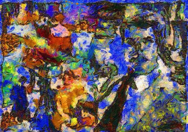 Impressionist Fashion Painting Art Print featuring the painting Fashion 209 by Jacques Silberstein