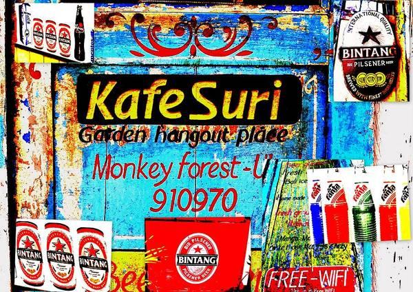 Bali Art Print featuring the photograph Funky Kafe Suri In Bali by Funkpix Photo Hunter