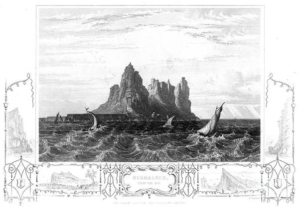 19th Century Art Print featuring the photograph Gibraltar, 19th Century by Granger