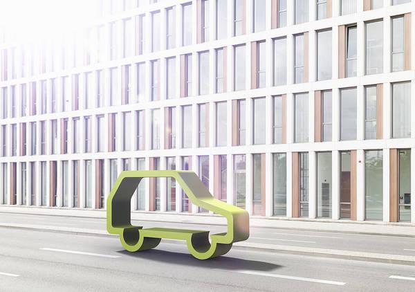 Horizontal Art Print featuring the photograph Green Car by Jorg Greuel