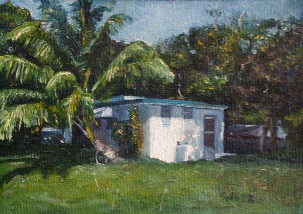 Houses Art Print featuring the painting Guest House In Aguada by Victor SOTO