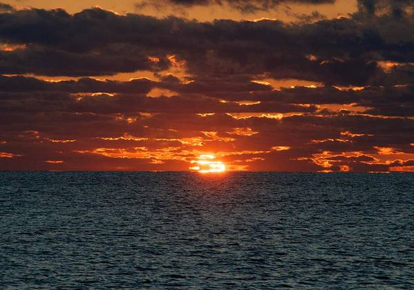 Sun Art Print featuring the photograph Into The Sea by Justin Robertson