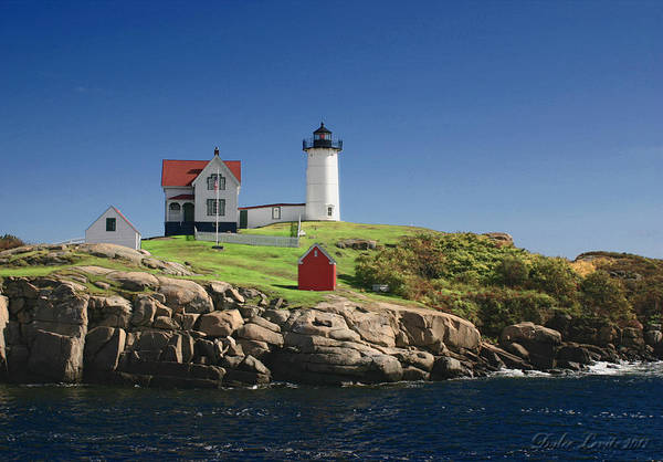 Maine Art Print featuring the photograph Maine Lighthouse by Dulce Levitz
