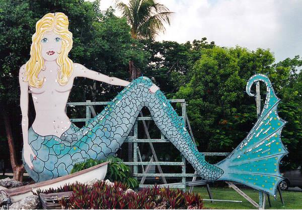 Mermaid Art Print featuring the photograph Mermaid Billboard by Tim Gourley