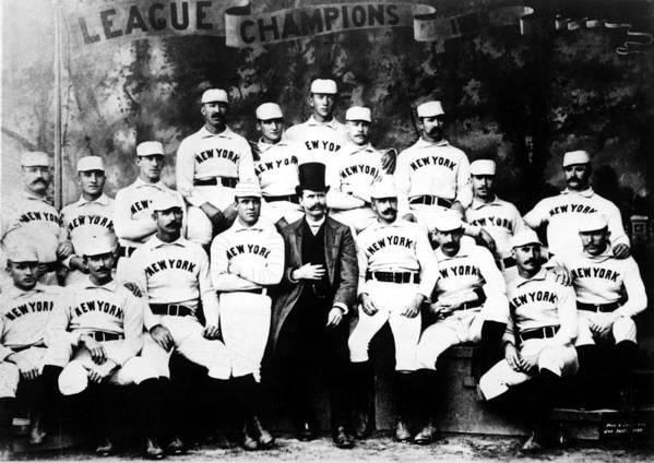1880s Portaits Art Print featuring the photograph New York Giants, Baseball Team, 1889 by Everett