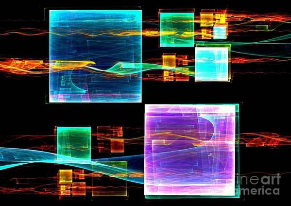 Reflection Art Print featuring the digital art Reflection by Klara Acel