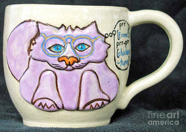 Kitty Art Print featuring the photograph Smart Kitty Mug by Joyce Jackson