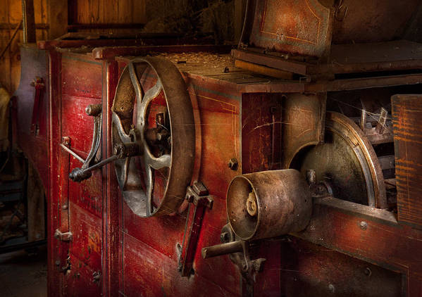 Hdr Art Print featuring the photograph Steampunk - Gear - It Used To Work by Mike Savad