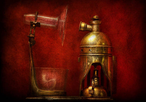 Torch Art Print featuring the photograph Steampunk - The Torch by Mike Savad