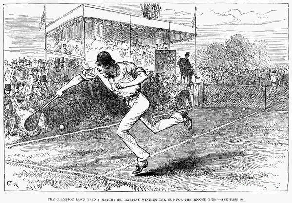 1880 Art Print featuring the photograph Tennis: Wimbledon, 1880 by Granger