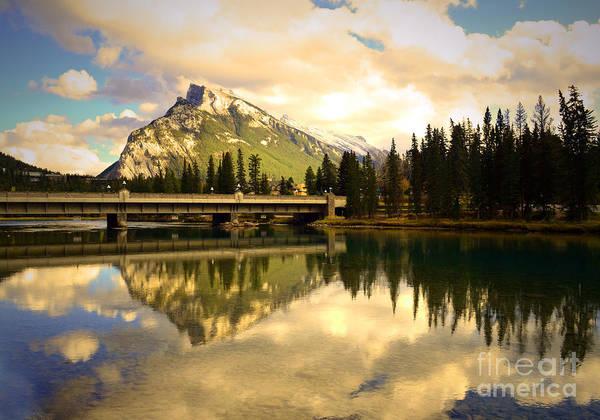Banff Art Print featuring the photograph The Banff Bridge Reflected by Tara Turner