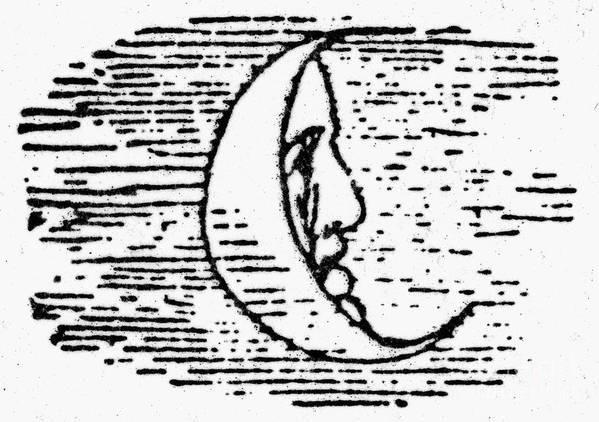 1849 Art Print featuring the photograph The Man In The Moon by Granger