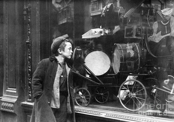 20th Century Art Print featuring the photograph Window Display, C1910 by Granger