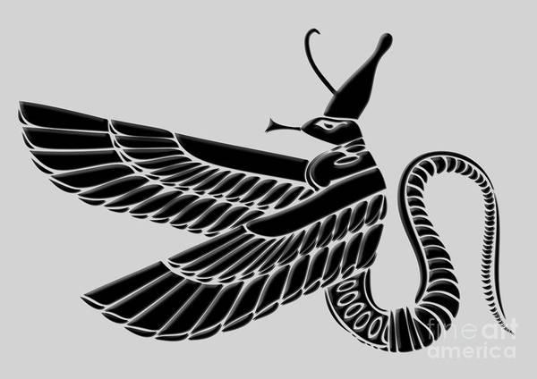 Demon Art Print featuring the digital art Dragon by Michal Boubin