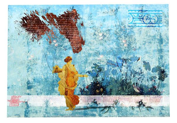 Roman Art Print featuring the digital art Roman Holiday I by Alfred Degens