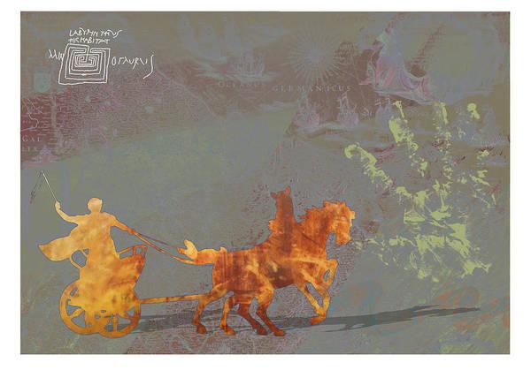 Roamn Art Print featuring the digital art Roman Holiday Ix by Alfred Degens
