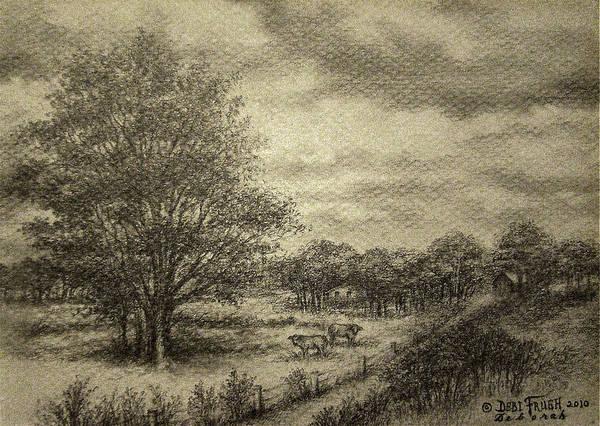 Wickliffe Landscape Art Print featuring the drawing Wickliffe Landscape by Debi Frueh