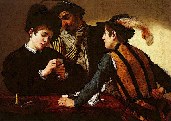Caravaggio Art Print featuring the digital art Caravaggio  by PixBreak Art