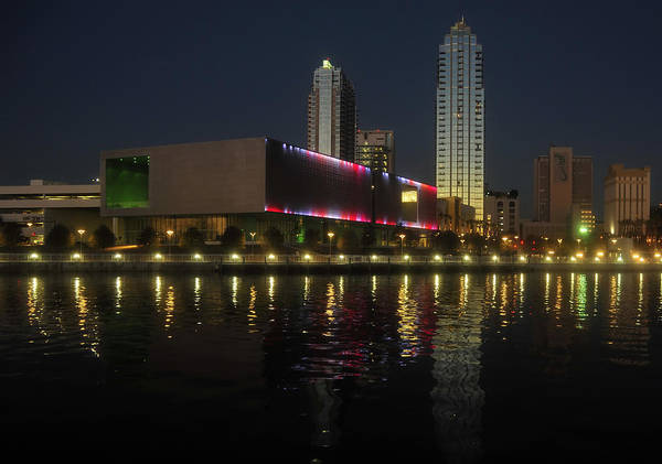 Tampa Museum Of Art Art Print featuring the photograph A Night At The Museum by David Lee Thompson