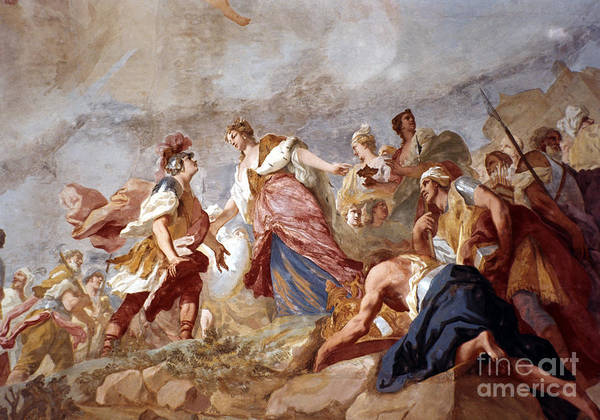 18th Century Art Print featuring the painting Amigoni: Dido And Aeneas by Granger