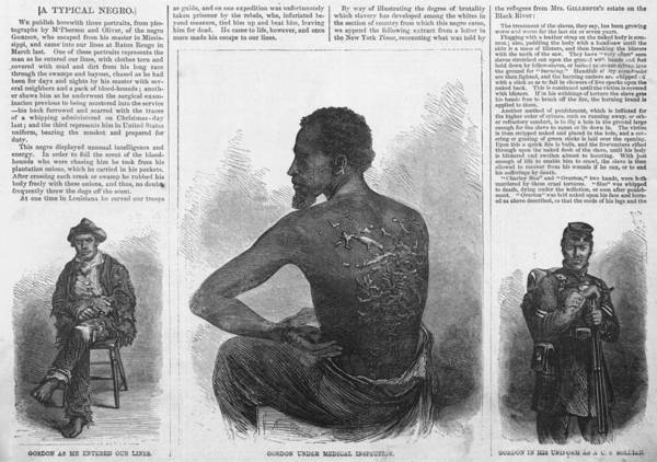 History Print featuring the photograph An African American Runaway Slave Named by Everett