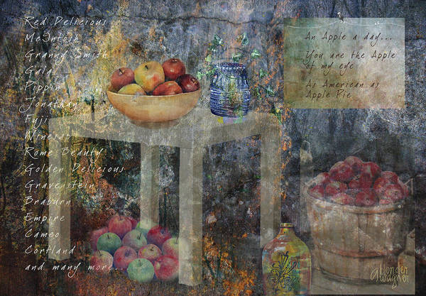 Apple Art Print featuring the digital art Apple Montage by Arline Wagner