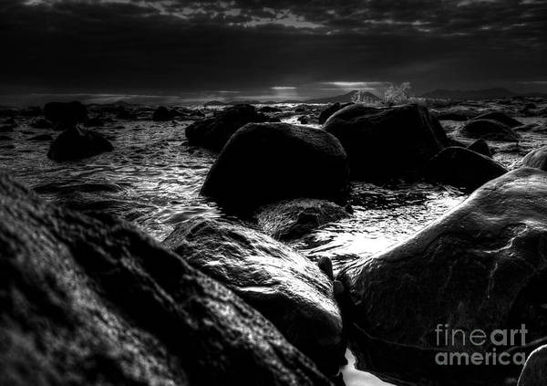 B W Seascape Art Print featuring the photograph Before The Storm - Seascape by P Donovan