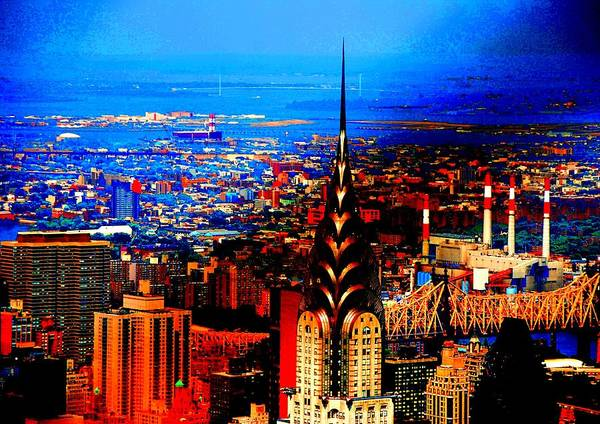 Nyc Print featuring the photograph Brooklyn Bridge by Fareeha Khawaja