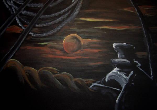 Horse Art Print featuring the painting Burnin Daylight by Glenda Smith