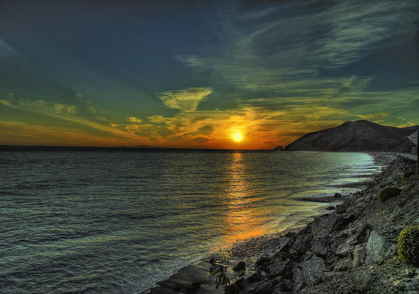 Sunset Art Print featuring the photograph California Sunset by Lynn Andrews