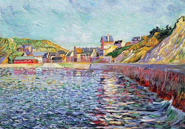 Port-en-bessin Print featuring the painting Calvados by Paul Signac