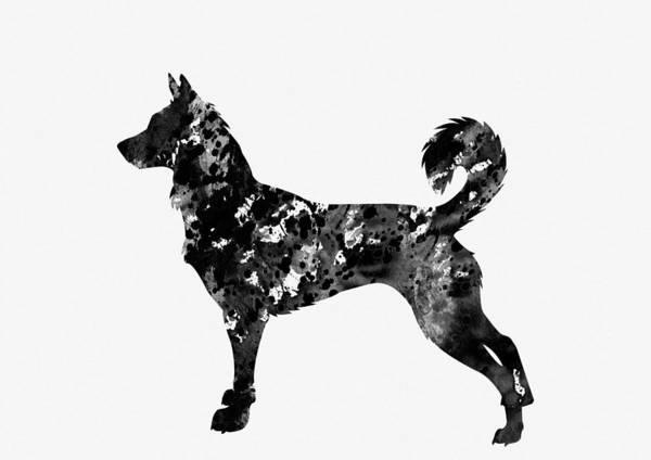 Canaan Dog Art Print featuring the digital art Canaan Dog by Erzebet S