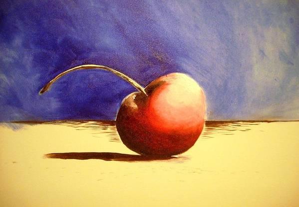 Cherry Art Art Print featuring the painting Cherry 41 by Ruben Barbosa