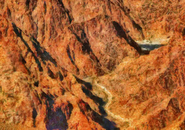 Savad Art Print featuring the photograph City - Arizona - Grand Canyon - A Look Into The Abyss by Mike Savad