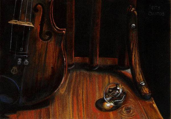 Violin Art Print featuring the pastel Clarity by Keith Gantos