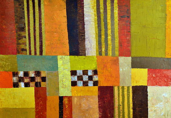 Colorful Art Print featuring the painting Color And Pattern Abstract by Michelle Calkins