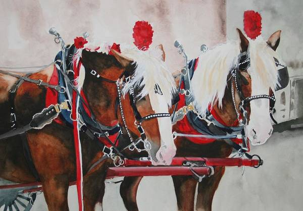 Horse Art Print featuring the painting Dandy Duo by Jean Blackmer