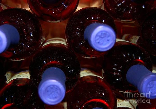 Wine Art Print featuring the photograph De-vine Wine by Debbi Granruth