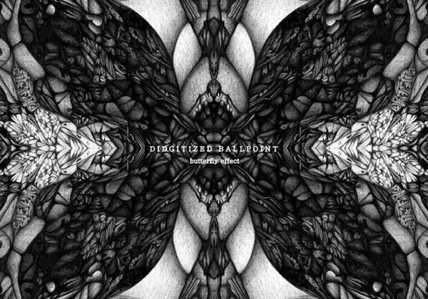 Ballpointpen Art Art Print featuring the digital art Didgitized Ballpoint Butterfly Effect by Jack Dillhunt