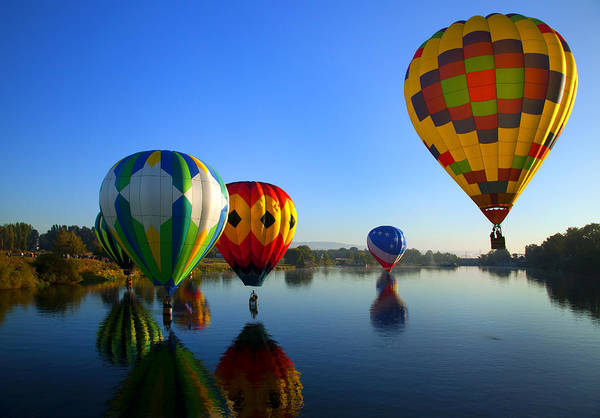 Balloon Art Print featuring the photograph Dip And Go by Mike Dawson