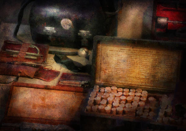 Hdr Art Print featuring the photograph Doctor - Everything You Need To Be A Doctor by Mike Savad